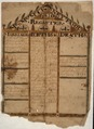 Illustrated family record (Fraktur) found in Revolutionary War Pension and Bounty-Land-Warrant Application File... - NARA - 300134.tif