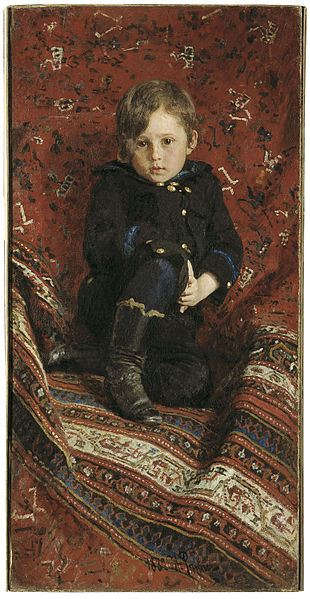 File:Ilya Repin - Portrait of Yury Repin, the Artist's Son.jpg