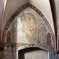Im frühen 14. Jahrhundert schuf Rudolphus von Wimpfen die Fresken in der Marienkirche. Christophorus in der Seitenkapelle.jpg