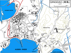 Map of Qingdao in 1912