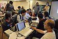 Imdadul Haq Milon at Wikipedia Booth - Apeejay Bangla Sahitya Utsav - Kolkata 2015-10-10 5197.JPG