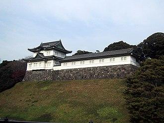 Siege of Edo - Fushimi tower of Edo castle (now the Imperial Palace)