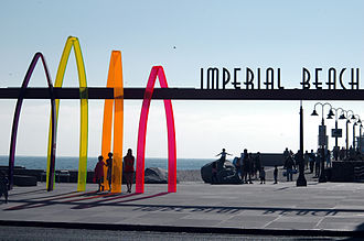 "Imperial Beach, California - ""Surfhenge"" in Imperial Beach"