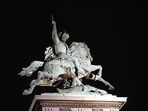 Commentarii de Bello Gallico - Statue of Vercingetorix, erected in 1903 in Clermont-Ferrand, France