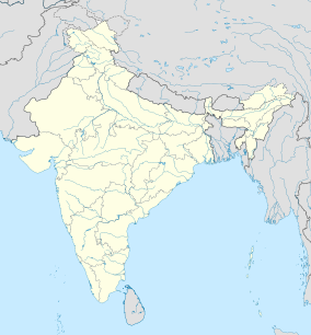 Map showing the location of Jim Corbett National Park