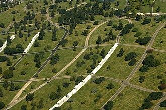 Inglewood Park Cemetery - Aerial view, 2008
