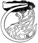 Initial at p. 225 in Just So Stories (c1912).png