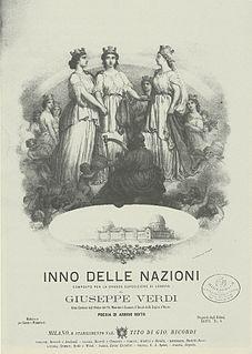 <i>Inno delle nazioni</i> cantata by Giuseppe Verdi
