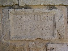 Inscription of the Roman Legion in the Crusader Church in Abu Ghosh.jpg