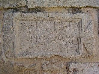 Abu Ghosh - Inscription from Abu Ghosh mentioning a vexillatio of the Xth Roman Legion, Fretensis