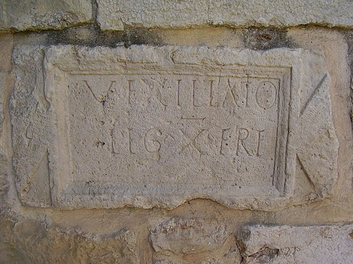 Inscription of the Roman Legion in the Crusader Church in Abu Ghosh