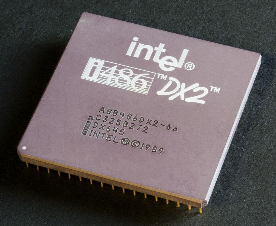Intel 80486DX2 top