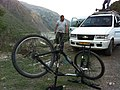 Inverted bike at Giri Camp, Himachal.jpg