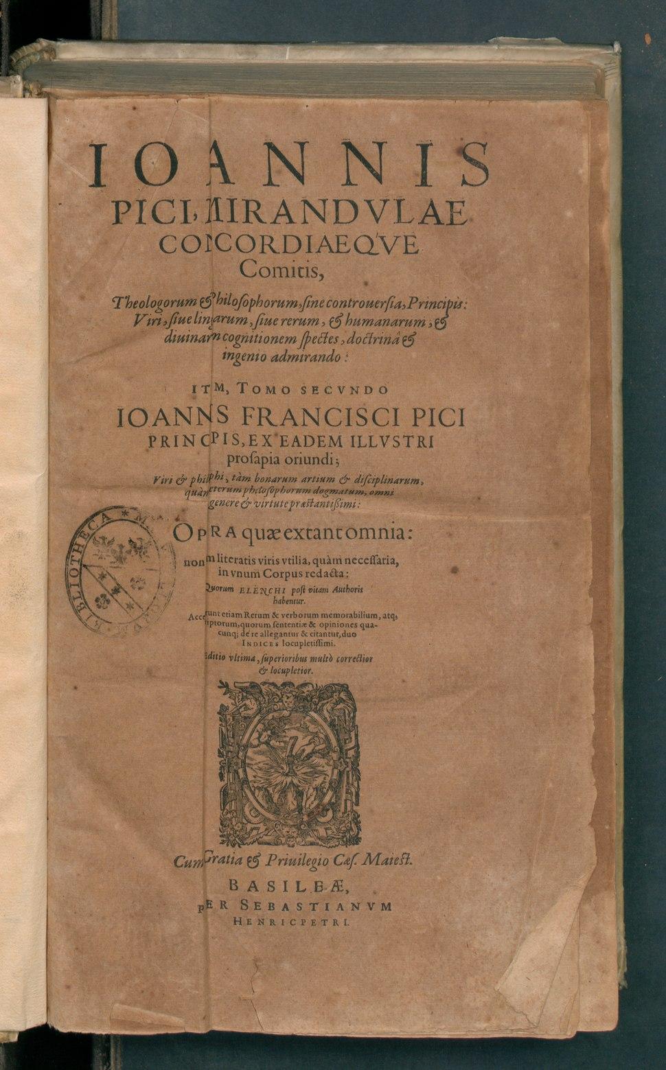 Ioannis Francisci Pici principis
