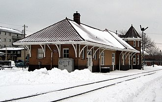 Iowa Interstate Railroad - Iowa City Depot, once part of the Chicago, Rock Island and Pacific Railroad, now on IAIS line.