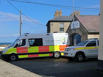 Irish Coast Guard - Vehicles and base of the Greystones IRCG unit