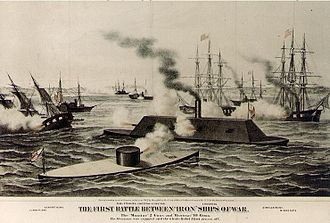 1862 in the United States - March 8–9: Battle of Hampton Roads, the first battle between two ironclad warships