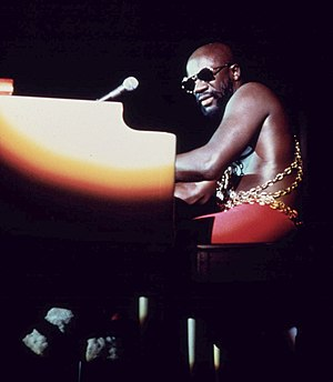 Isaac Hayes - 1973 photo of Hayes taken by John H. White.