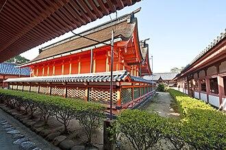 Hachiman-zukuri - Image: Isaniwa Jinja Matsuyama Honden Hachiman zukuri