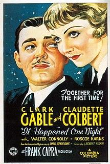 <i>It Happened One Night</i> 1934 film by Frank Capra
