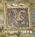 Italia del nord, placca per cintura in argento, 1450 circa.JPG