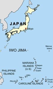 Iwo jima location mapSagredo
