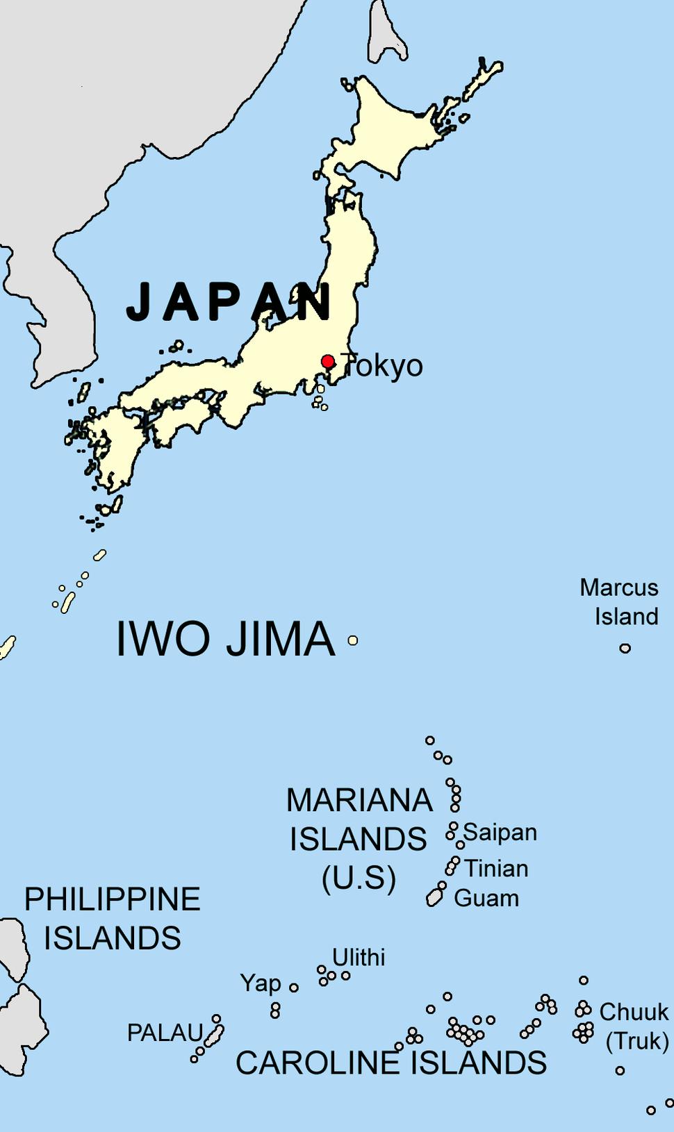 Iwo jima location mapSagredo