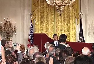 Jewish American Heritage Month - President Obama welcomes guests to 2010 JAHM White House reception.