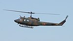 JGSDF UH-1J(41895) fly over at JMSDF Tokushima Air Base September 30, 2017 01.jpg
