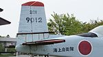JMSDF T-34A(9012) vertical stabilizer & right horizontal stabilizer right rear view at Kanoya Naval Air Base Museum April 29, 2017.jpg