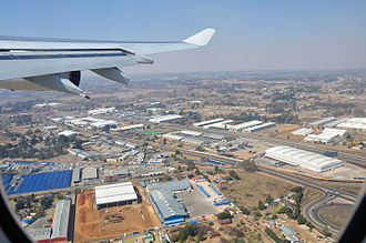 Kempton Park, Gauteng - Kempton Park after take off from OR Tambo International Airport