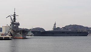 JS Ise (DDH-182) and JS Kunisaki (LST-4003) at Yokosuka.jpg
