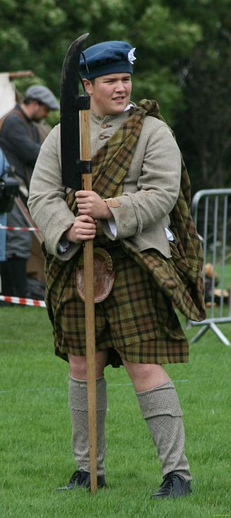 Lochaber axe - Replica of a Lochaber Axe being demonstrated at a battle re-enactment near Inverlochy Castle