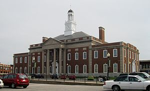 Truman Courthouse in Independence, designed by Edward F. Neild at the request of Harry S. Truman
