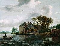 Jacob Isaaksz van Ruisdael - Farm and Hayrick on a River - 37.21 - Detroit Institute of Arts.jpg