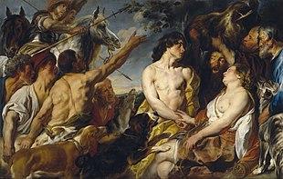 Meleagro e Atalanta, in un dipinto di Jacob Jordaens, conservato al Museo del Prado, Madrid