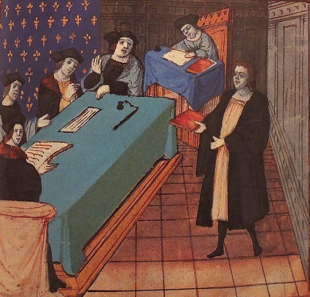 File:Jacques Le Lieur remettant son ouvrage, le Livre des