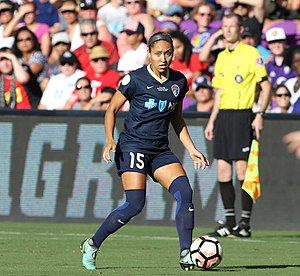 Jaelene Hinkle - Jaelene Hinkle playing for the NC Courage in 2017