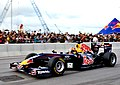 Jaime Alguersuari demonstrating the showcar Red Bull Dragon Run Hong Kong.jpg