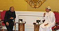 Jaipal Reddy in a bilateral meeting with the Minister of oil and Gas, Oman, Dr Mohammed Bin Hamad Al Rumhy.jpg