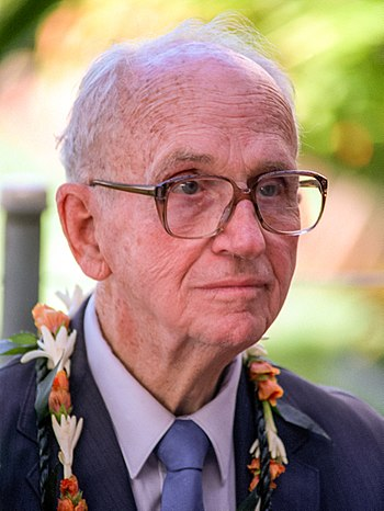 Author James Albert Michener attends an observ...