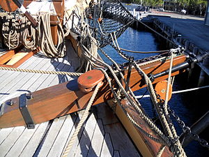 Cathead - Cathead on bow of James Craig (barque)
