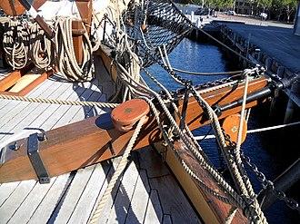 Cathead - Cathead on bow of the barque James Craig