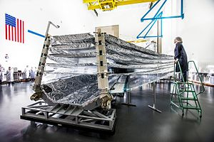 Sunshield (JWST) - The five layers of the JWST Sunshield being tested in 2013