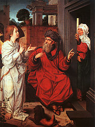 Jan Provoost: Abraham, Sarah and the Angel