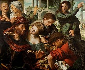 Jan Sanders van Hemessen - The Calling of Saint Matthew, Kunsthistorisches Museum, c. 1548