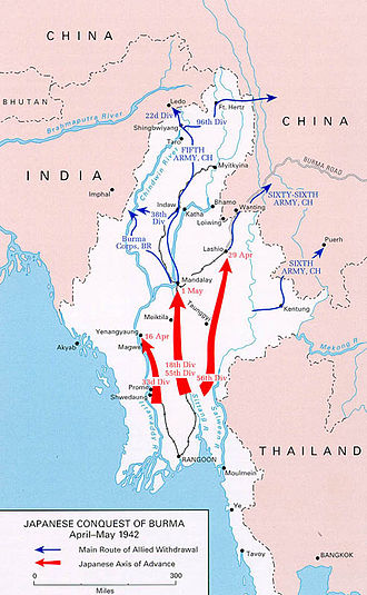 Japanese conquest of Burma - Japanese advance and Allied retreat
