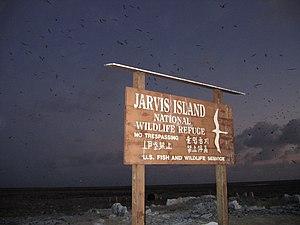 Jarvis Island No Trespassing Sign