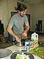 Jason Wagner prepares food Our Community Place Harrisonburg VA April 2008.jpg