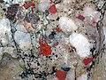 Jasper pebbles in quartzite (Lorrain Formation, Paleoproterozoic, ~2.3 Ga; Ottertail Lake Northeast roadcut, near Bruce Mines, Ontario, Canada) 23 (47709071091).jpg